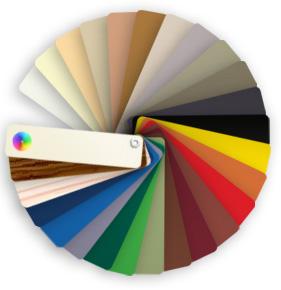 Icone du nuancier de choix des couleurs pour les gouttières alu et les produits Dal'Alu
